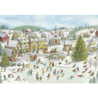 Puzzle  Ravensburger-15290 Playful Christmas Day