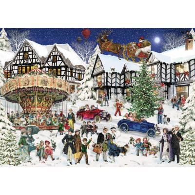 Puzzle  Ravensburger-15359 Verschneites Dorf