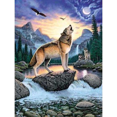 Puzzle Ravensburger-15360 Ruf der Wölfe