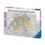 Puzzle  Ravensburger-15367 Landkarte der Schweiz