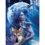 Puzzle  Ravensburger-15414 Wolfsfrau