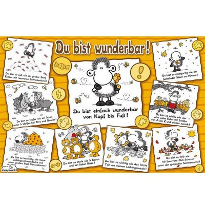 Puzzle  Ravensburger-15494 Sheepworld: Du bist wunderbar!