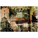 Puzzle  Ravensburger-15729 Nostalgisches Paris