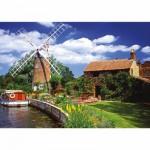 Puzzle  Ravensburger-15786 Malerische Windmühle