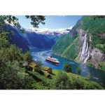 Puzzle  Ravensburger-15804 Norwegischer Fjord