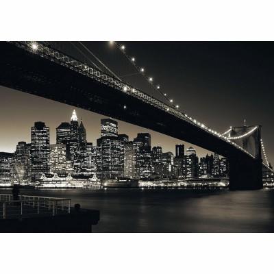 Puzzle Ravensburger-15835 New York: Manhattan mit Brooklyn Bridge