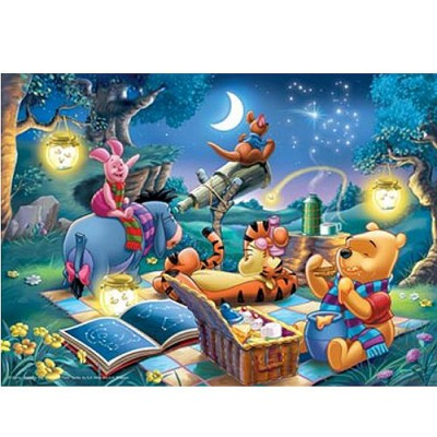 Puzzle  Ravensburger-15875 Winnie the Pooh: Oase des Friedens