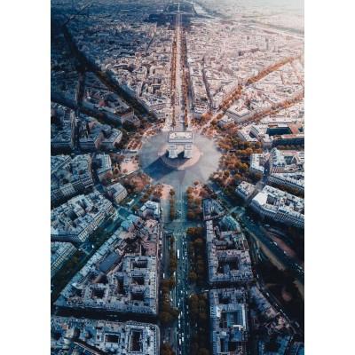 Puzzle  Ravensburger-15990 Paris von oben gesehen