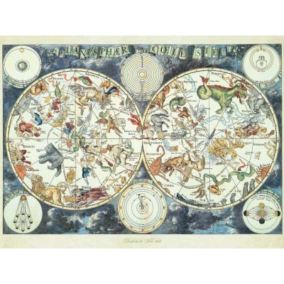 Puzzle  Ravensburger-16003 Fantastic Beasts Weltkarte