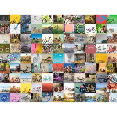Puzzle Ravensburger-16007 99 Fahrräder und mehr ...