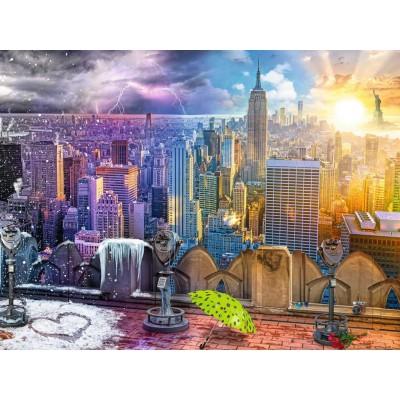 Puzzle  Ravensburger-16008 Die Jahreszeiten in New York