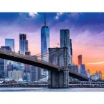 Puzzle  Ravensburger-16011 Von Brooklyn nach Manhattan