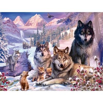 Puzzle  Ravensburger-16012 Wölfe im Schnee