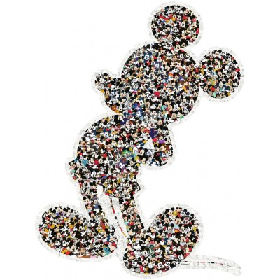Puzzle  Ravensburger-16099 Shaped Mickey