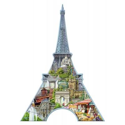 Ravensburger-16152 Silhouette Puzzle - Eiffelturm