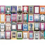 Puzzle  Ravensburger-16217 Collage - Fenster in Porto