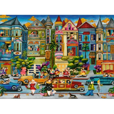 Puzzle  Ravensburger-16261 The Painted Ladies