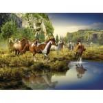 Puzzle  Ravensburger-16304 Wildpferde