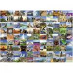 Puzzle  Ravensburger-16319 Die 99 schönsten Orte der Welt