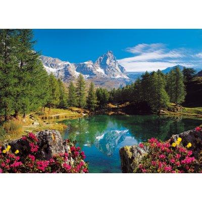 Puzzle Ravensburger-16341 Bergsee mit Matterhorn