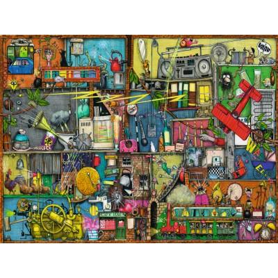 Puzzle Ravensburger-16361 Colin Thompson - Das Krachmacher Regal
