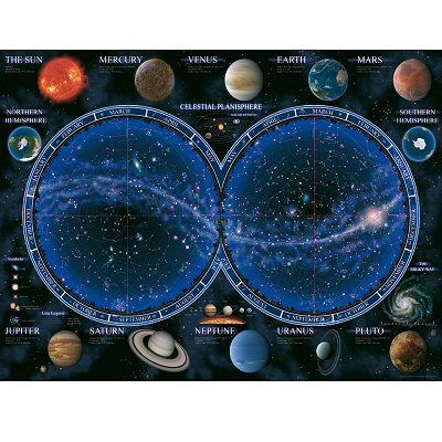 Puzzle  Ravensburger-16373 Astronomie