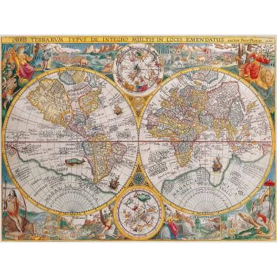 Puzzle Ravensburger-16381 Weltkarte 1594