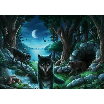 Ravensburger-16434 Escape Puzzle - Wölfe