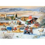 Puzzle  Ravensburger-16478 Winter on the Farm