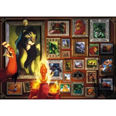 Puzzle  Ravensburger-16524 Scar - Collection Disney Villainous