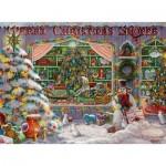 Puzzle  Ravensburger-16534 Merry Christmas Shoppe