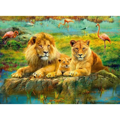 Puzzle  Ravensburger-16584 Lions in the Savannah