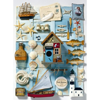 Puzzle  Ravensburger-16588 Maritimes Flair