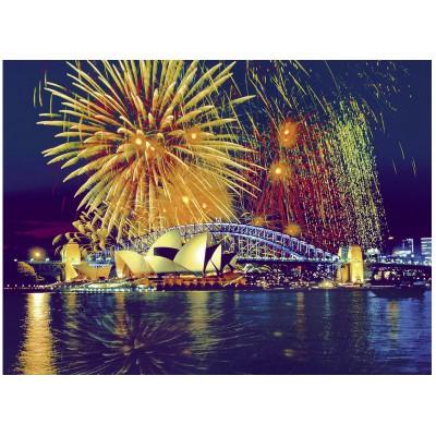 Puzzle  Ravensburger-16622 Feuerwerk über Sydney, Australien