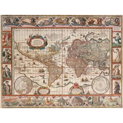 Puzzle  Ravensburger-16633 Antike Weltkarte