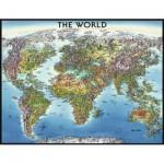 Puzzle  Ravensburger-16683 Weltkarte