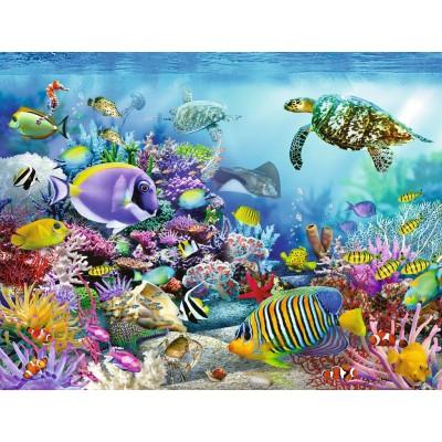 Puzzle Ravensburger-16704 Majestätisches Korallenriff