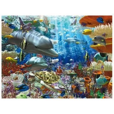 Puzzle Ravensburger-17027 Leben unter Wasser