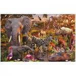 Puzzle  Ravensburger-17037 Afrikanische Tierwelt