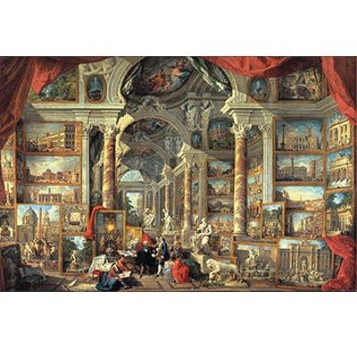 Puzzle  Ravensburger-17409 Pannini: Vedute di Roma moderna