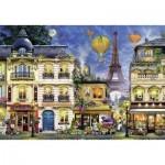 Puzzle  Ravensburger-17829 Abendspaziergang durch Paris