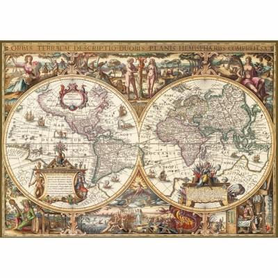 Puzzle Ravensburger-19004 Holzdruck: Antike Weltkarte