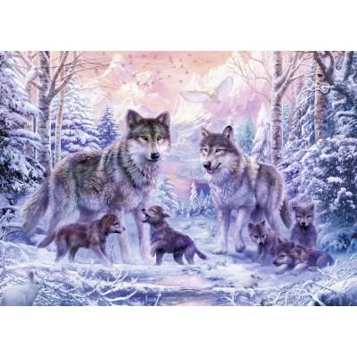Puzzle  Ravensburger-19146 Arktische Wölfe