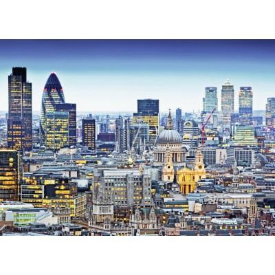 Puzzle  Ravensburger-19153 Über den Dächern von London