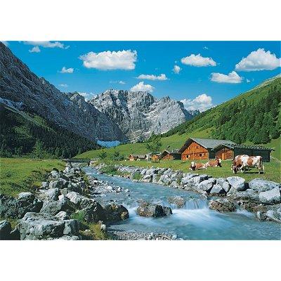 Puzzle Ravensburger-19216 Österreich, Karwendelgebirge