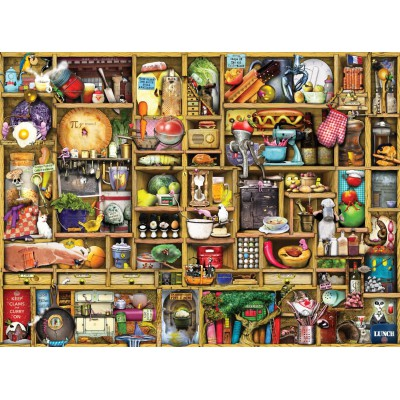 Puzzle  Ravensburger-19298 Colin Thompson: Kurioses Küchenregal