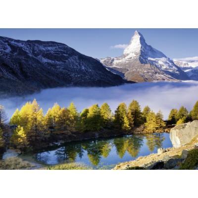 Puzzle  Ravensburger-19350 Grindjisee mit Matterhorn