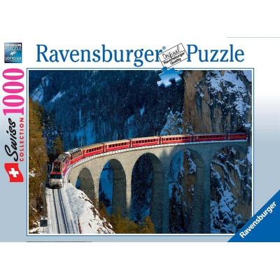 Puzzle Ravensburger-19352 Landwasserviadukt