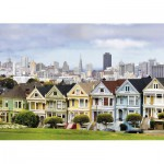 Puzzle  Ravensburger-19365 Painted Ladies, San Francisco