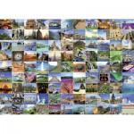 Puzzle  Ravensburger-19371 Die 99 schönsten Orte der Welt